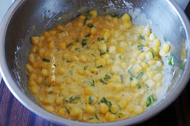 嫩玉米鸡蛋饼的简单做法