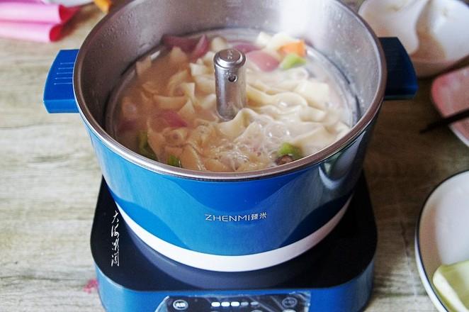 热汤手擀面怎么炒