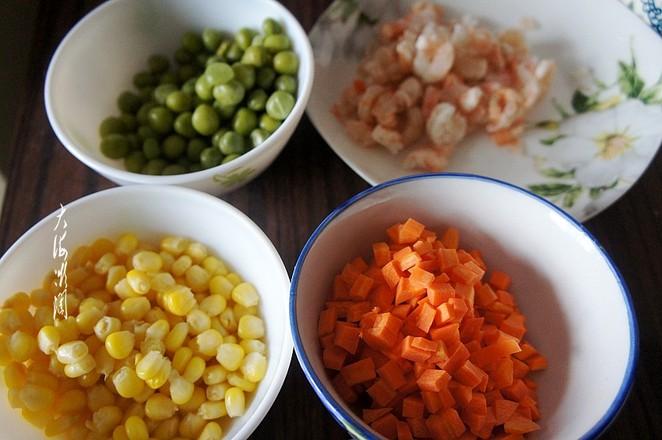 豌豆玉米粒炒虾仁的做法图解