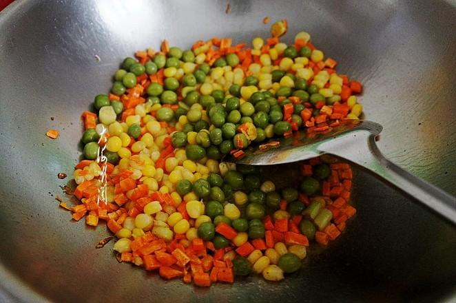 豌豆玉米粒炒虾仁的简单做法