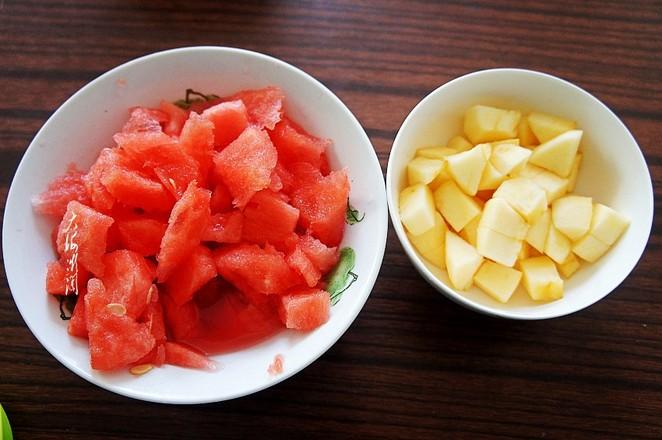 鲜榨苹果西瓜汁的做法图解