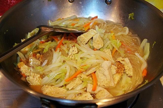 白菜冻豆腐炖粉条怎么煮