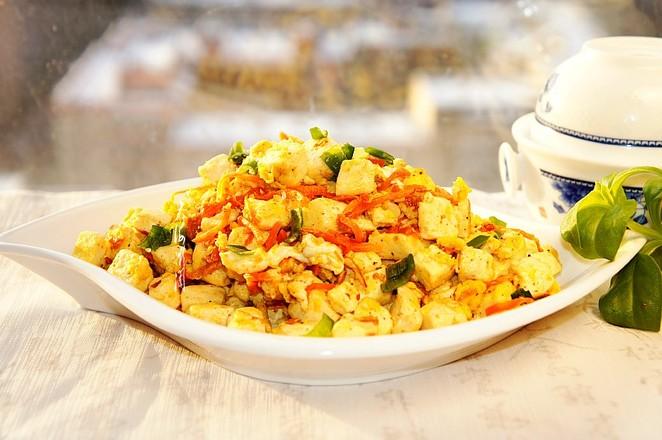 豆腐炒鸡蛋成品图