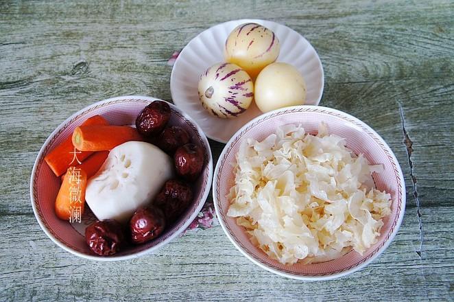 红枣银耳莲藕人参果汤的做法大全