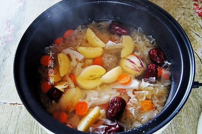 红枣银耳莲藕人参果汤怎么吃