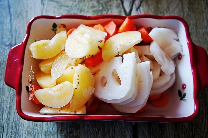 红枣银耳莲藕人参果汤的家常做法