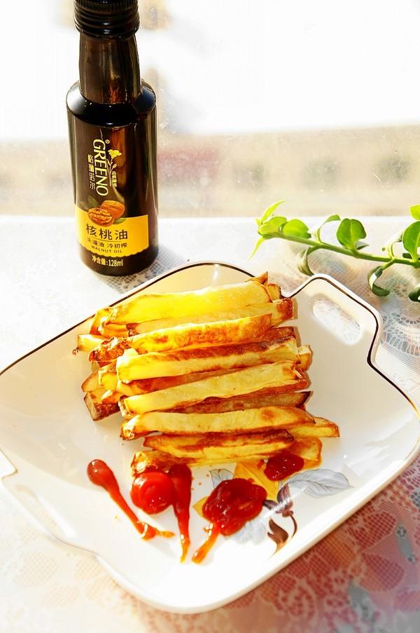 教你薯条最简单做法,无盐少油比买的更好吃,顶饱还不胖人成品图
