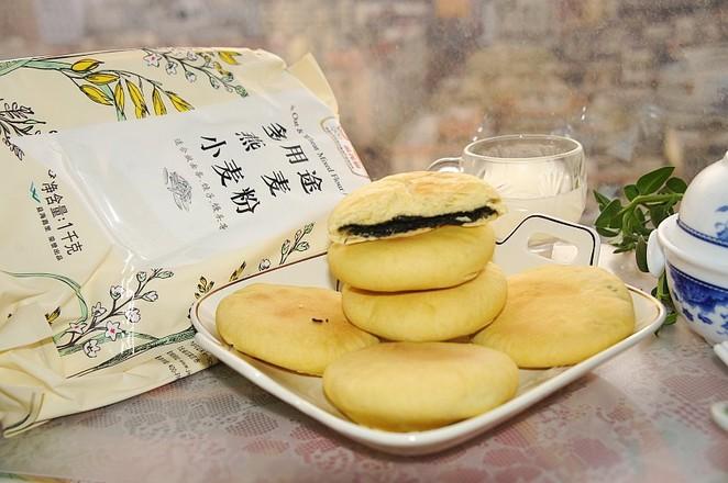 黑芝麻馅燕麦早餐饼的步骤