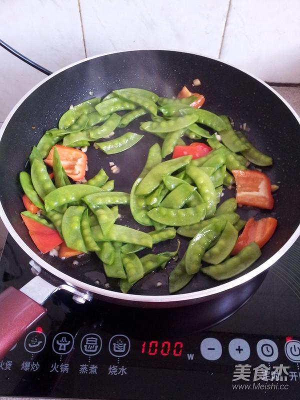红椒炒扁豆怎么做