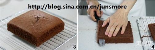 奶酪夹心巧克力蛋糕的做法图解