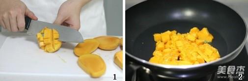 芒果奶酪白面包的做法大全