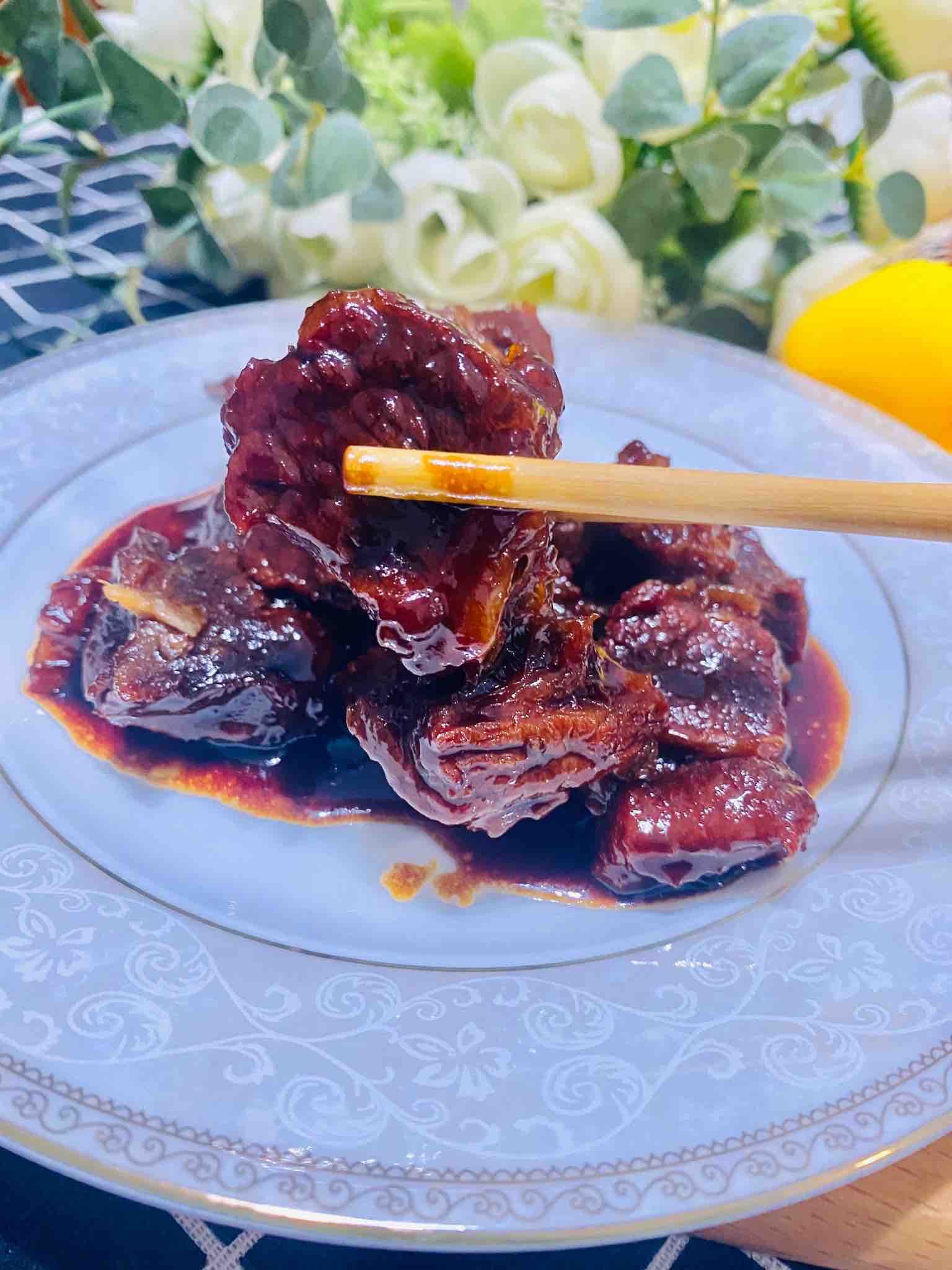 大口吃肉,选红烧牛腩。成品图
