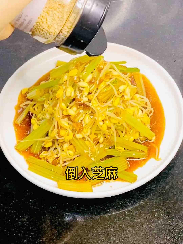 凉拌脆爽豆芽和芹菜怎么煮