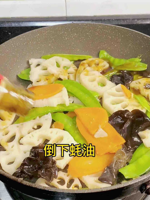 荷塘肉小炒,加点它,味道特别鲜怎么做