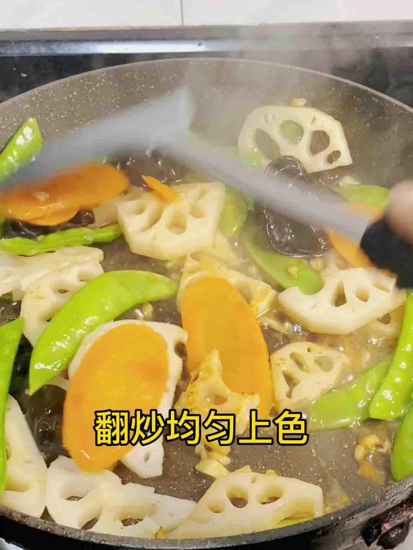 荷塘肉小炒,加点它,味道特别鲜怎么炒