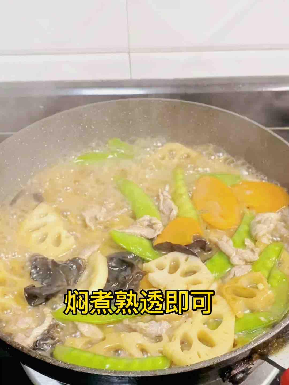 荷塘肉小炒,加点它,味道特别鲜怎样煸