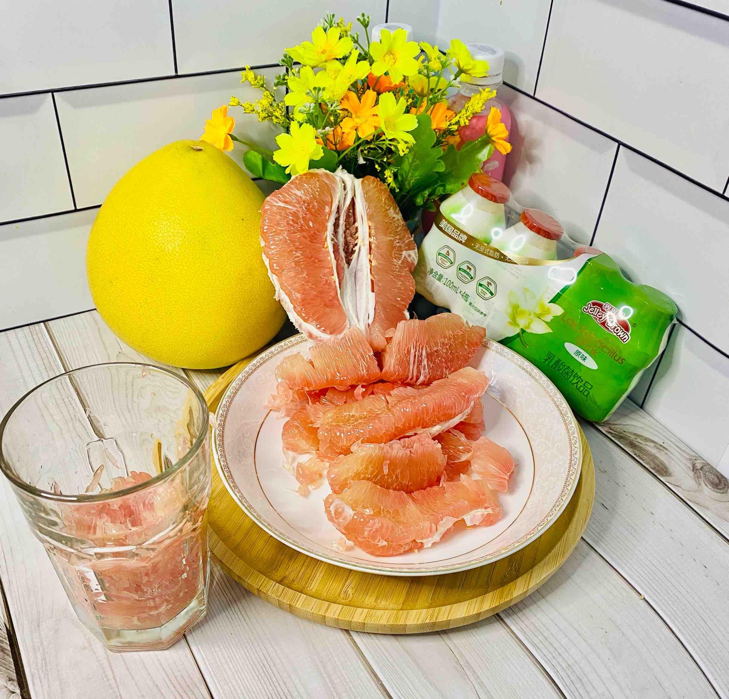 蜜柚界界乐,时令饮品,超好喝的家常做法