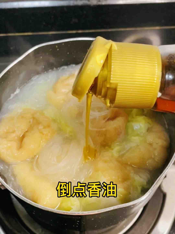 油豆腐白菜粉丝煲,鲜美不清淡,好吃光盘怎么做