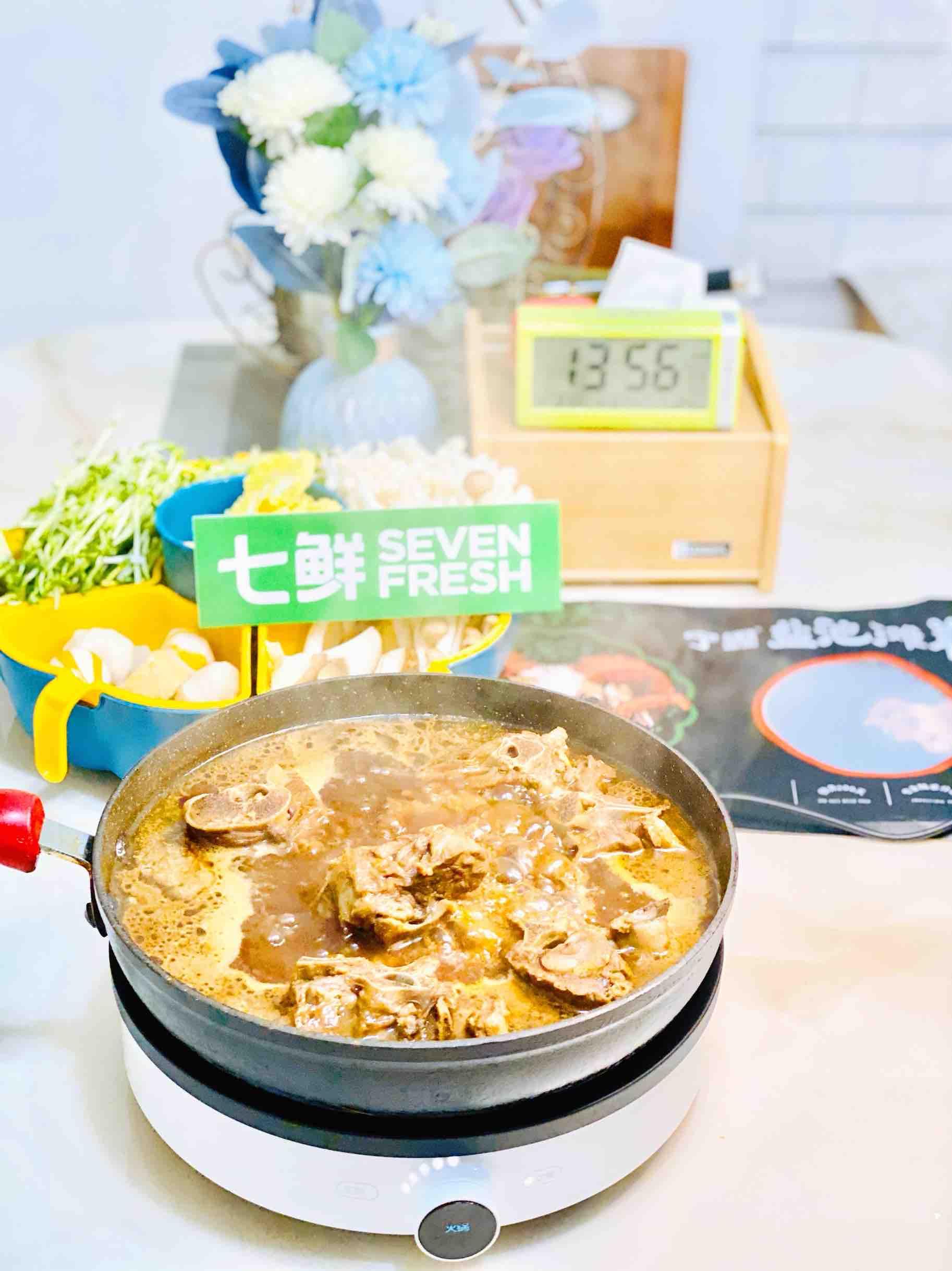 牛年羊羊得意之羊蝎子火锅,这样煮,超美味成品图