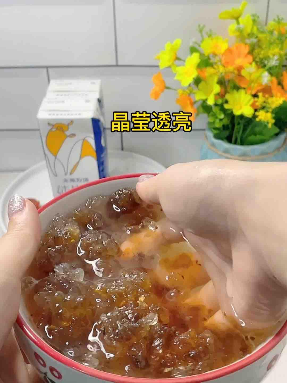 美味难挡高颜值甜品-牛奶桃胶,勺勺都是甜甜蜜蜜的家常做法
