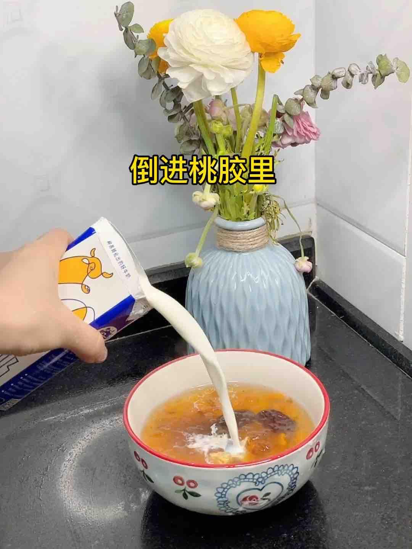 美味难挡高颜值甜品-牛奶桃胶,勺勺都是甜甜蜜蜜怎么煮