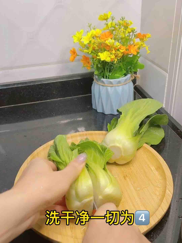 尝一口春天的味道,蒜蓉炒上海青的做法图解