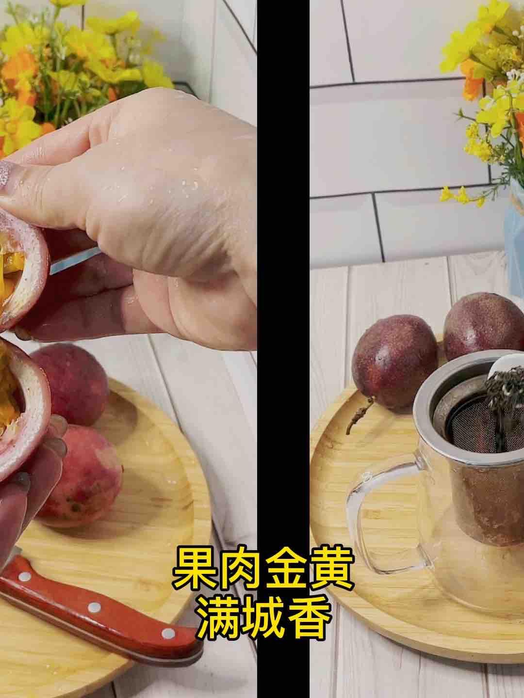 甜甜蜜蜜百香果蜂蜜茶❗️不加糖超好喝的做法大全
