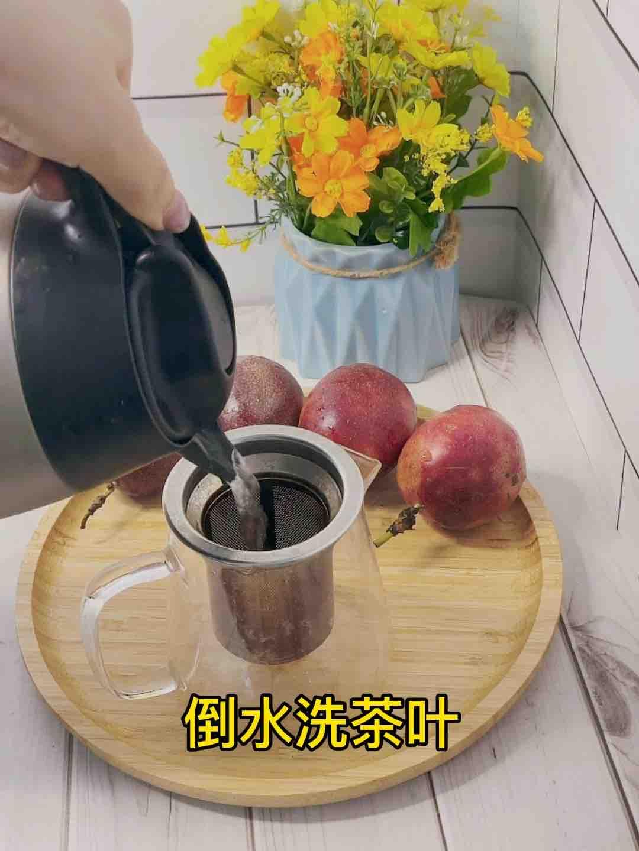 甜甜蜜蜜百香果蜂蜜茶❗️不加糖超好喝的做法图解