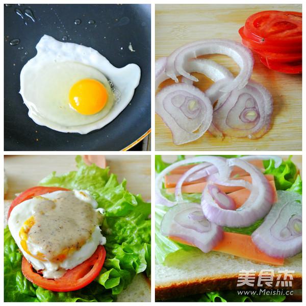 一颗鸡蛋的百变花样——开放三明治的家常做法