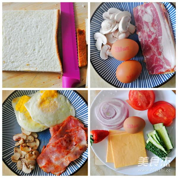 一颗鸡蛋的百变花样——开放三明治的简单做法