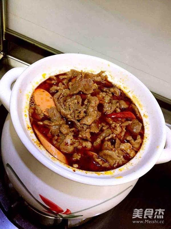 牛肉粉丝砂锅煲成品图