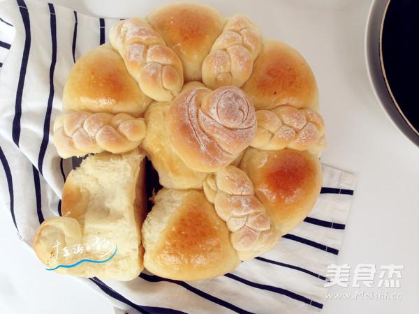 花辫豆沙面包的制作