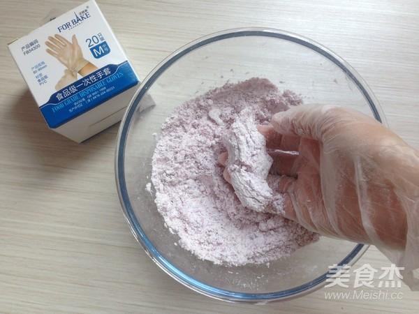 紫薯松糕的家常做法