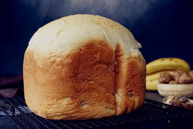 一键式香蕉核桃面包怎么煸