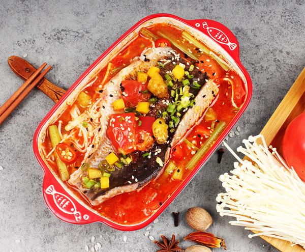 鱼谷稻番茄小份烤鱼饭制作流程怎么吃