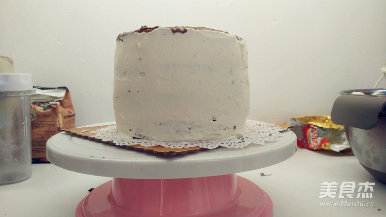 浓浓圣诞风之巧克力树桩蛋糕的制作方法