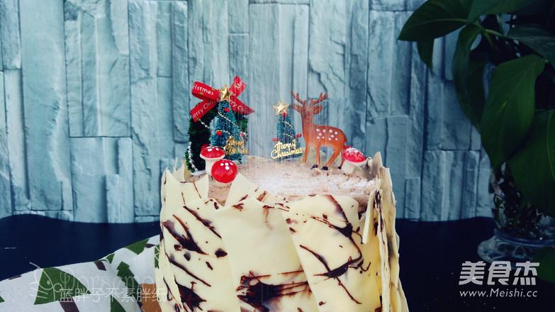 浓浓圣诞风之巧克力树桩蛋糕的做法大全