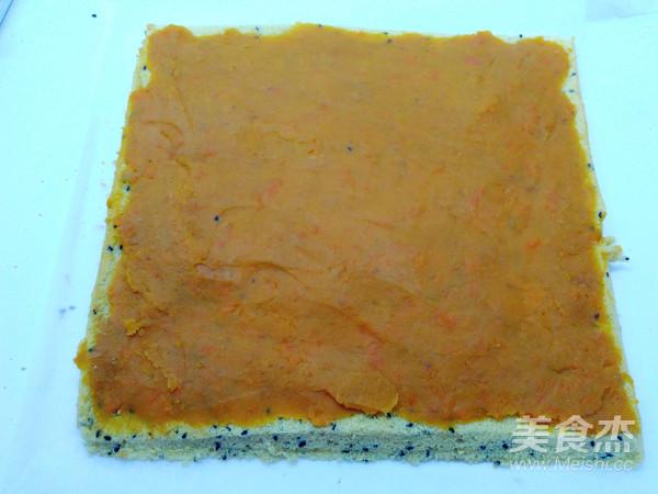 超健康的黑芝麻薯泥蛋糕卷怎样做