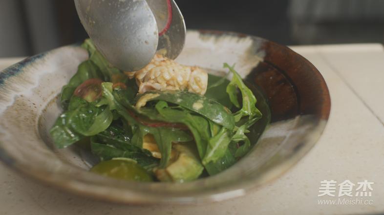 橙子鱿鱼蔬菜沙拉怎么煮