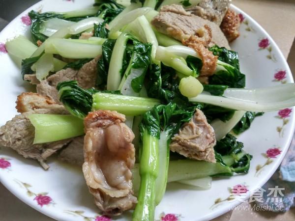 烧鸭炒小白菜怎么煮