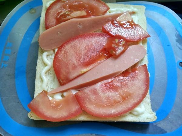 番茄火腿三明治的做法图解