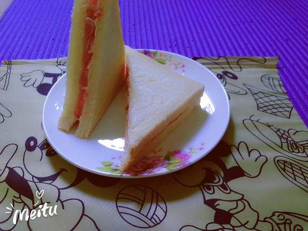 番茄火腿三明治怎么做