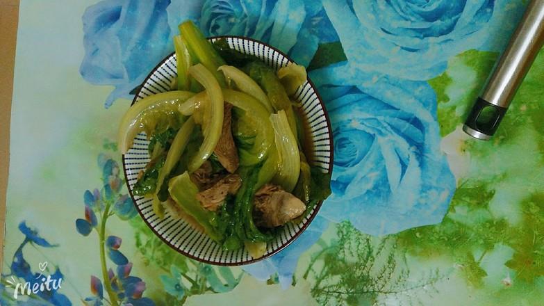生菜炒鸭肉的简单做法