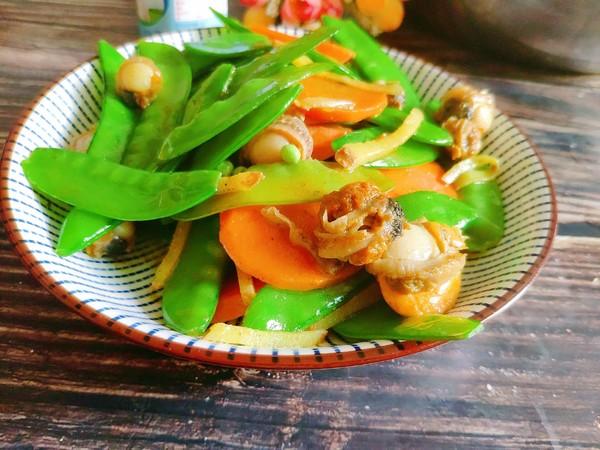 荷兰豆炒螺肉的简单做法