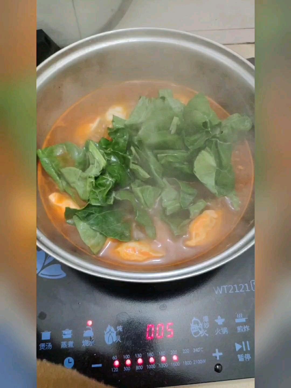 呷哺呷哺番茄火锅饺子的步骤