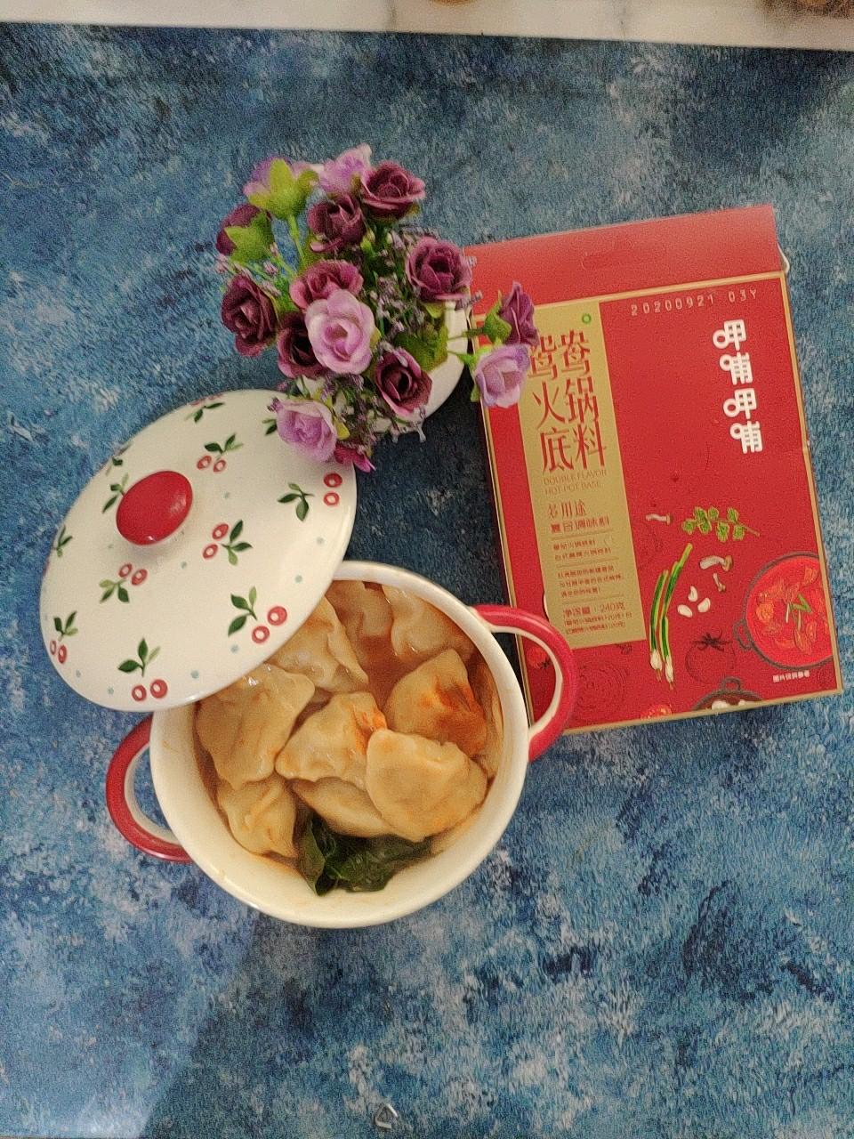 呷哺呷哺番茄火锅饺子成品图