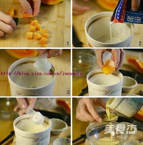 木瓜蛋挞的做法大全