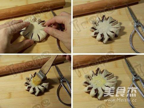 豆沙菊花酥的做法图解