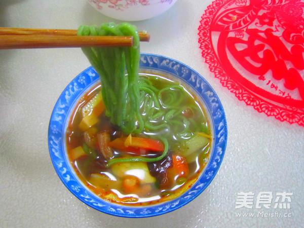 虾仁菠菜臊子面成品图