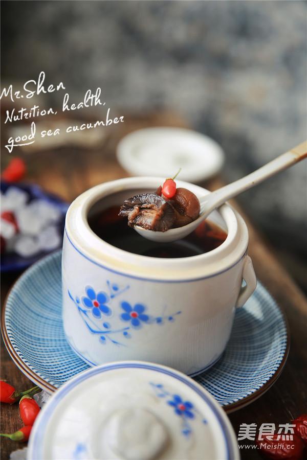 红枣冰糖炖海参成品图